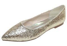 DAPENE Women's Ballet Shoes Gold 8.5 US DAPENE&reg