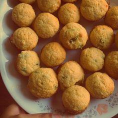 Homemade corn muffins. Corn Muffins, Foodies, Homemade, Breakfast, Morning Coffee, Home Made, Hand Made