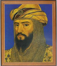 Ṣalāḥ ad-Dīn Yūsuf ibn Ayyūb, was the first Sultan of Egypt and Syria and the founder of the Ayyubid dynasty. A Muslim Kurd, Saladin led the Muslim opposition against the European Crusaders in the Levant. At the height of his power, his sultanate included Egypt, Syria, Mesopotamia, Hejaz, Yemen, and other parts of North Africa.