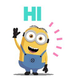 Animated gif shared by GLen =^● 。●^=. Find images and videos about cute, gif and yellow on We Heart It - the app to get lost in what you love. Hi Images, Images Emoji, Minion Gif, Cute Minions, Hi Gif, Gif Animé, Animated Smiley Faces, Animated Gif, Whatsapp Animation