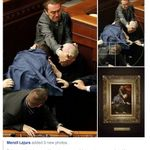 Someone took a candid photo of a fight in Ukranian Parliament that is as well composed as the best renaisance art