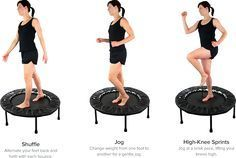 trampoline exercises workouts - workouts on trampoline & workouts on trampoline exercise & trampoline exercises workouts & trampoline workouts & mini trampoline workouts & workouts to do on a trampoline & trampoline workouts big & easy trampoline workouts Mini Trampoline Workout, Rebounder Trampoline, Best Trampoline, Fitness Trampoline, Trampolines, Aerobics Workout, Aerobic Exercises, Rebounder Workout, Squat