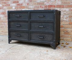 Superbe Made Entirely Out Of Mild Steel, This Industrial Dresser Has The Look And  Feel Of