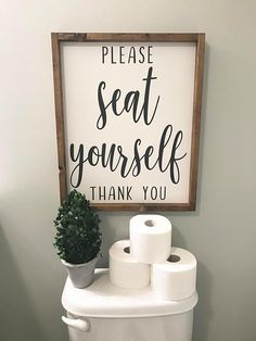 Please Seat Yourself Wood Sign/Bathroom Wood Sign/Bathroom Sign/Bathroom Humor Sign/Bathroom Decor/F – diy bathroom decor dollar stores Wood Bathroom, Bathroom Humor, Bathroom Signs, Bathroom Interior, Small Bathroom, Bathroom Ideas, White Bathroom, Bathroom Crafts, Bathroom Cabinets