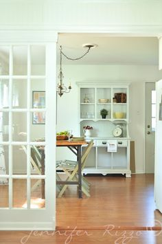 DIY:: French Doors as Room Dividers ! Cut the office off from the rest of the house! Door Dividers, Room Divider Doors, Kitchen On A Budget, Kitchen Redo, Look Cool, Decor Interior Design, French Doors, Great Rooms, Home Projects