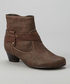 Another great find on #zulily! Dark Brown Cecilia Ankle Boot #zulilyfinds