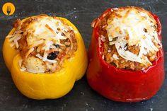 Receta para hacer pimientos rellenos al horno Los pimientos, como las patatas…