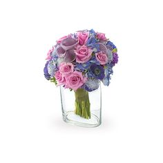 """""""Lavender and Lace Virtual Bouquet at 800Florals ❤ liked on Polyvore featuring home, home decor, floral decor, flower bouquets, flower home decor, flower stems and lilac bouquet"""
