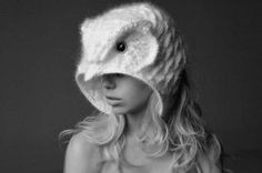 Crochet Owl Hat from wearable art creator Helen Rodel...I would totally wear this