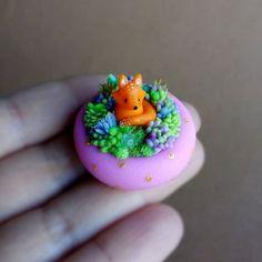 Tiny foxy;)... |sold out| #fox #foxy #succulent #sculpture #miniatures #miniature #fairy #garden #flowercomposition #tiny #kawaii #polymerclay #polymerclaycreations #polymerclaycharms #fimoclay #fimo #succulents #succulove
