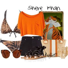 """Shere Khan - Summer / Beach - Disney's The Jungle Book"" by rubytyra on Polyvore"