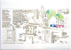 """8H - Frank Green's street plan piece entitled """"Tap Door"""" for 10x10 Drawing the City London 2011"""