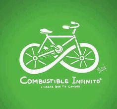 Usemos este medio de transporte con combustible infinito...