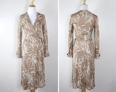 Vintage 1970s Poly Knit Wrap Dress by Joy Stevens