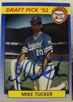 Michael Tucker Kansas City Royals Autographed 1992 Front Row Card #44. This item comes with a certificate of authenticity from Autograph-Sports.