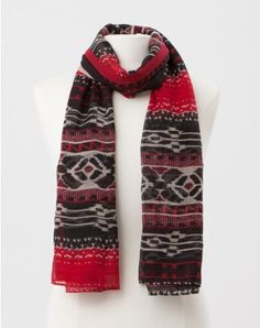 1.2.3 Paris - Les accessoires automne hiver 2014 - Foulard imprimé rouge Teofil 29€ #123paris #mode