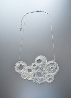 I can see it is a gorgeous necklace, but how cool would it also be as a wall hanging! Spiro_silv_irr by Miette.