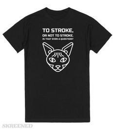 Stroke the cat dark t-shirt | Stroke the cat dark t-shirt - kinda groovy, we say! #Skreened