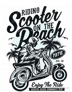 • Buy this artwork on apparel, stickers, phone cases, and more. T Shirt Logo Design, Tee Design, Shirt Designs, Design Kaos, Biker Shirts, Text Style, Graphic Design Posters, Custom Art, Vespa