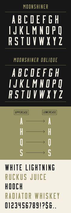 Web design freebies, Moonshiner: New Free Typeface Typography Love, Typographic Design, Typography Inspiration, Typography Letters, Graphic Design Typography, Design Inspiration, Free Typeface, Typeface Font, Monospace