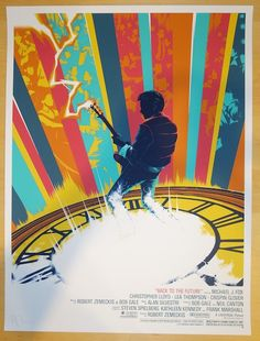 """2014 """"Back To The Future"""" - Silkscreen Movie Poster by Matt Taylor at JoJo's Posters"""