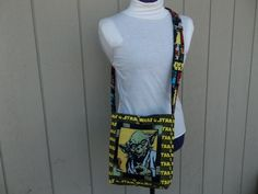Star Wars  Yoda Crossbody Shoulder Messenger Bag by OMGDesigns
