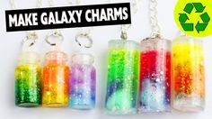 DIY Galaxy Nebula Pendants Tutorial for Necklaces and Key chains Easy DIY DIY…