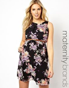 New Look Maternity Butterfly Floral Belted Dress $42.58