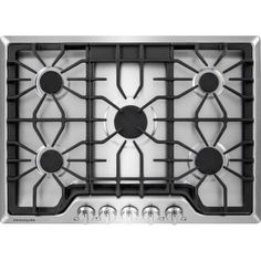 Frigidaire Gas Cooktop (Stainless Steel) (Common: Actual: at Lowe's. Ease some of the burden of Store-More cooking with this gas cooktop from Frigidaire. Food is boiled faster with the power Burner that provides strong
