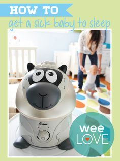 When winter hits so do the germs, leading to a sick baby... With a Crane Adorable Cool Mist Humidifier you can add a little sunshine to their sick day.
