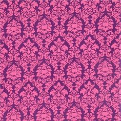 Michael Miller Material | Michael Miller ornament fabric Dandy Damask purple-pink 2