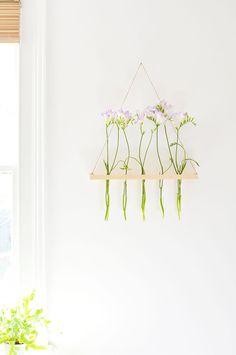 DIY | hanging flower display | burkatron | DIY + lifestyle blog