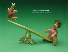 Life Needs Balance Foodscapes® Poster