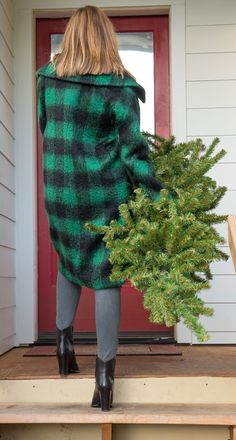 It's the most wonderful time of the year! Time to trim the Christmas tree and wear cozy coats. Home. Heart. Holiday.
