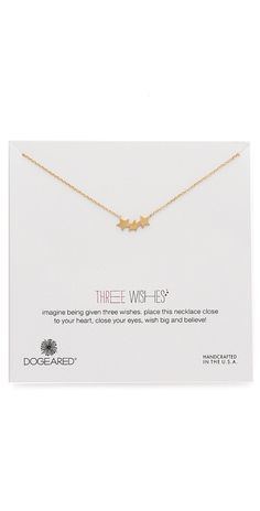 Dogeared Three Wishes Triple Star Necklace | SHOPBOP