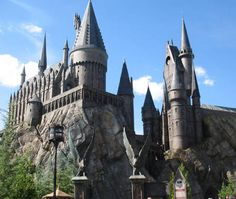 Hogwarts Castle, at the Harry Potter Theme Park: Hogwarts is magnificently created at the Wizarding World of Harry Potter, at the Universal Orlando theme park. Parc Harry Potter, Harry Potter Theme Park, Harry Potter World, Harry Potter Hogwarts, Hogwarts Orlando, Hogwarts Letter, Hogwarts Universal Studios, Harry Potter Universal, Travel