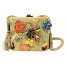 Mary Frances Beige Fl Beaded Life S A Picnic Clutch