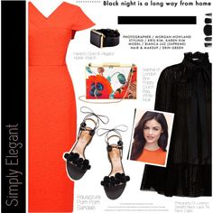 How To Wear Orange x Black Outfit Idea 2017 - Fashion Trends Ready To Wear For Plus Size, Curvy Women Over 20, 30, 40, 50