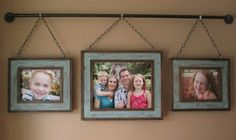 Step-by-Step:  How to Make an Iron Pipe Family Photo Display