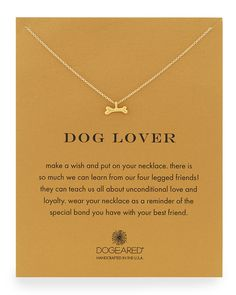 Dog Lover Bone-Pendant Necklace