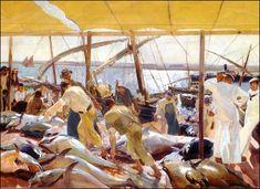 Ayamonte: La pesca del atun. Mayo-Junio 1919. 351 x 487 cm. Colección de la Hispanic Society of America. Nueva York Joaquin Sorolla y Bastida