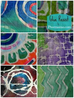 Pearmama: DIY Batik | Glue Resist Fabric Prints @Tracy Smith mama! let's do it! wish I knew this before we went to Africa.