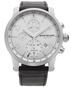 Montblanc Men's Swiss Automatic Chronograph Timewalker UTC Brown Alligator Leather Strap Watch 43mm 107065 - Watches - Jewelry & Watches - Macy's