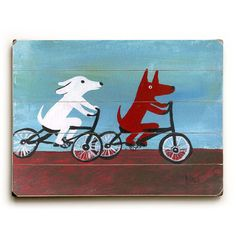 Dogs on Bikes, $49, now featured on Fab.