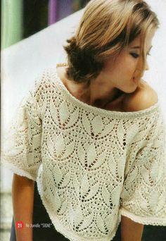 Bella maglia ai ferri con punto traforato.