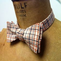 Only 4 Left!! Lierally that's it!!Mens / Boys Bow Tie  Geek Chic Number 43  Cream by theHouseofLux, $37.00