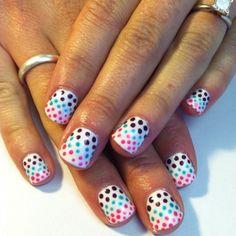 Honeymoon Polk a dots!  Shellac Hang10