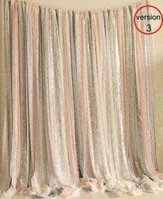 pink gray white Sparkle photobooth wedding ceremony stage, birthday, baby shower party curtain backdrop nursery - Home Page Pink Backdrop, Diy Wedding Backdrop, Baby Shower Backdrop, Photo Booth Backdrop, Photo Backdrops, Wedding Decor, Blush Pink, Pink White, White Beige