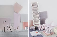 pastel colors .... interiors ways to use them: big scale using those panels or in a small details over the coffee table. Don't be afraid to incorporate them
