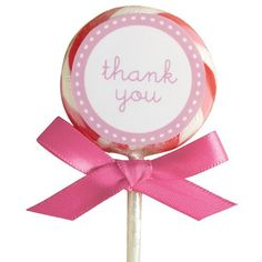 Wilton Lollipop Kit -Thank You Pink- - Presentatie overig - Presentatie & Verpakkingen - producten  | Deleukstetaartenshop.nl | Deleukstetaartenshop.nl